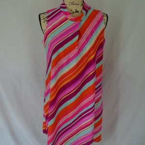 Jude Connally Size M Orange Pink Dress EUC